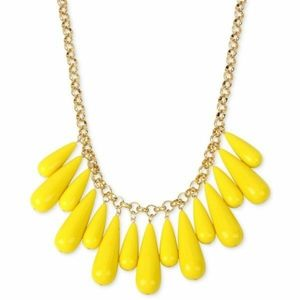 INC for Macy's M. Haskell yellow bubble necklace